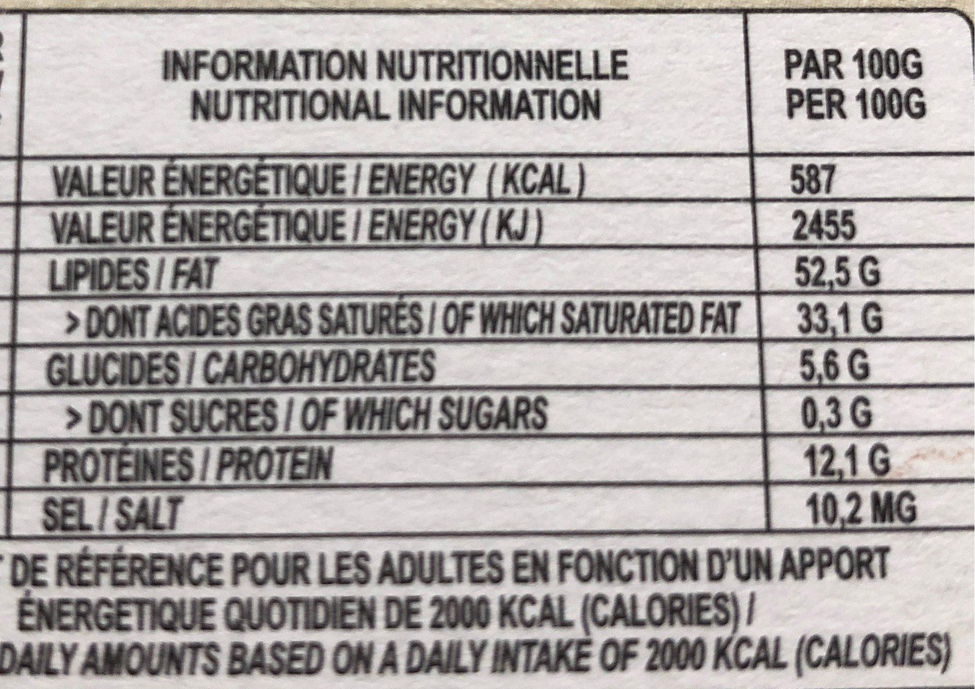La belle équitable - 100% Cacao noir - Valori nutrizionali - fr