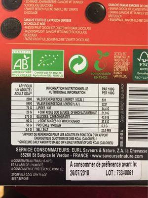 Ass Choc Noir Aux Fruits - Voedingswaarden
