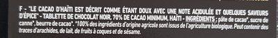 Pure Origine 70% de cacao minimum - Ingrédients - fr