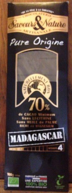 Chocolat 70% Cacao Madagascar - Product