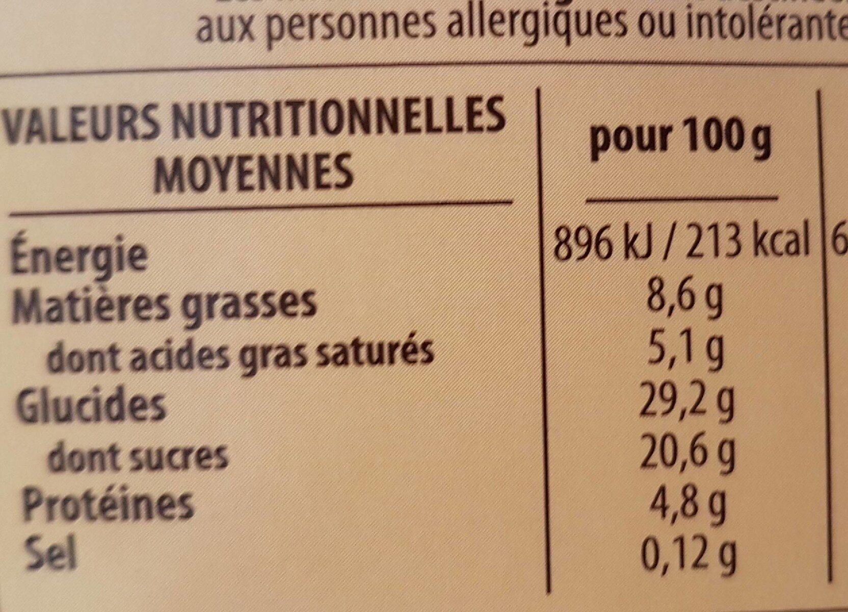 Le Saint Amour Gâteau au fromage blanc Vanille - Nutrition facts - fr