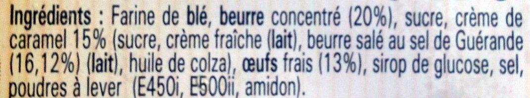 Gâteau Breton Crème de Caramel au Beurre Salé - Ingrédients - fr
