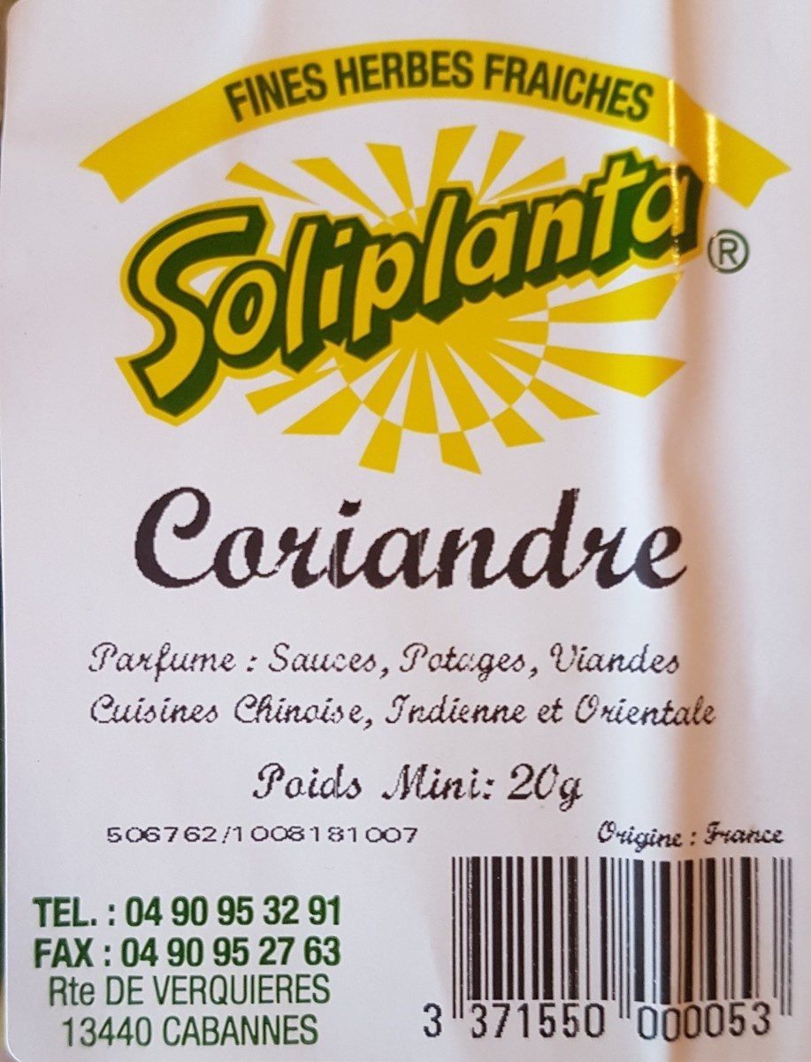 Coriandre - Ingredients - fr