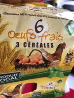 6 Œufs Frais 3 Céréales - Product