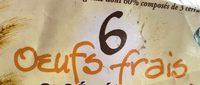 6 Œufs Frais 3 Céréales - Ingredientes