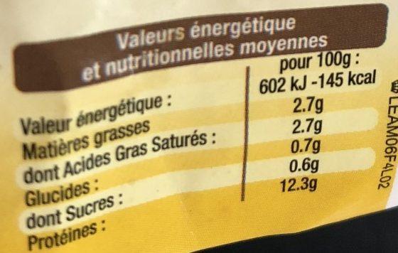6 Œufs Frais 3 Céréales - Información nutricional