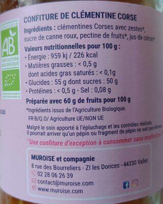 Ma confiture Bio - Nutrition facts - fr