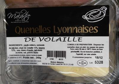 Quenelles lyonnaises de volaille - Produit
