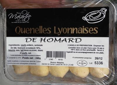 Quenelles lyonnaises de homard - Produit