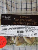Cuisses de grenouilles au beurre persillé - Produit - fr