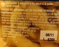 Cuisses de grenouilles au beurre persillé - Ingrédients - fr