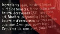 Sauce Nantua aux écrevisses - Ingrédients - fr