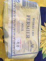 Beurre cru fermier doux - Produit - fr