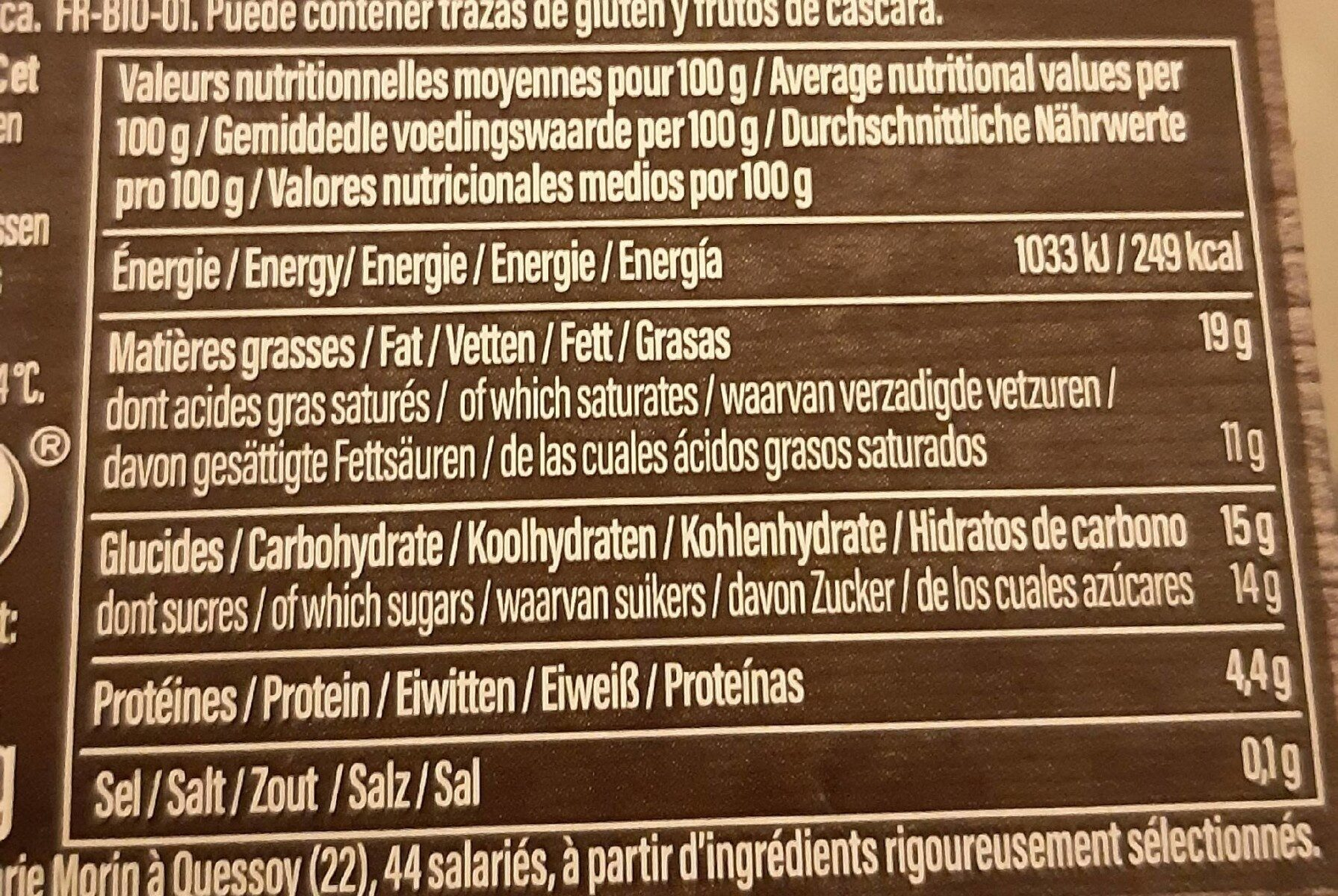 Crème brûlée nature - Informations nutritionnelles - fr