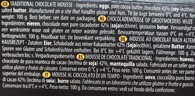 Mousse au chocolat - Ingrédients - fr