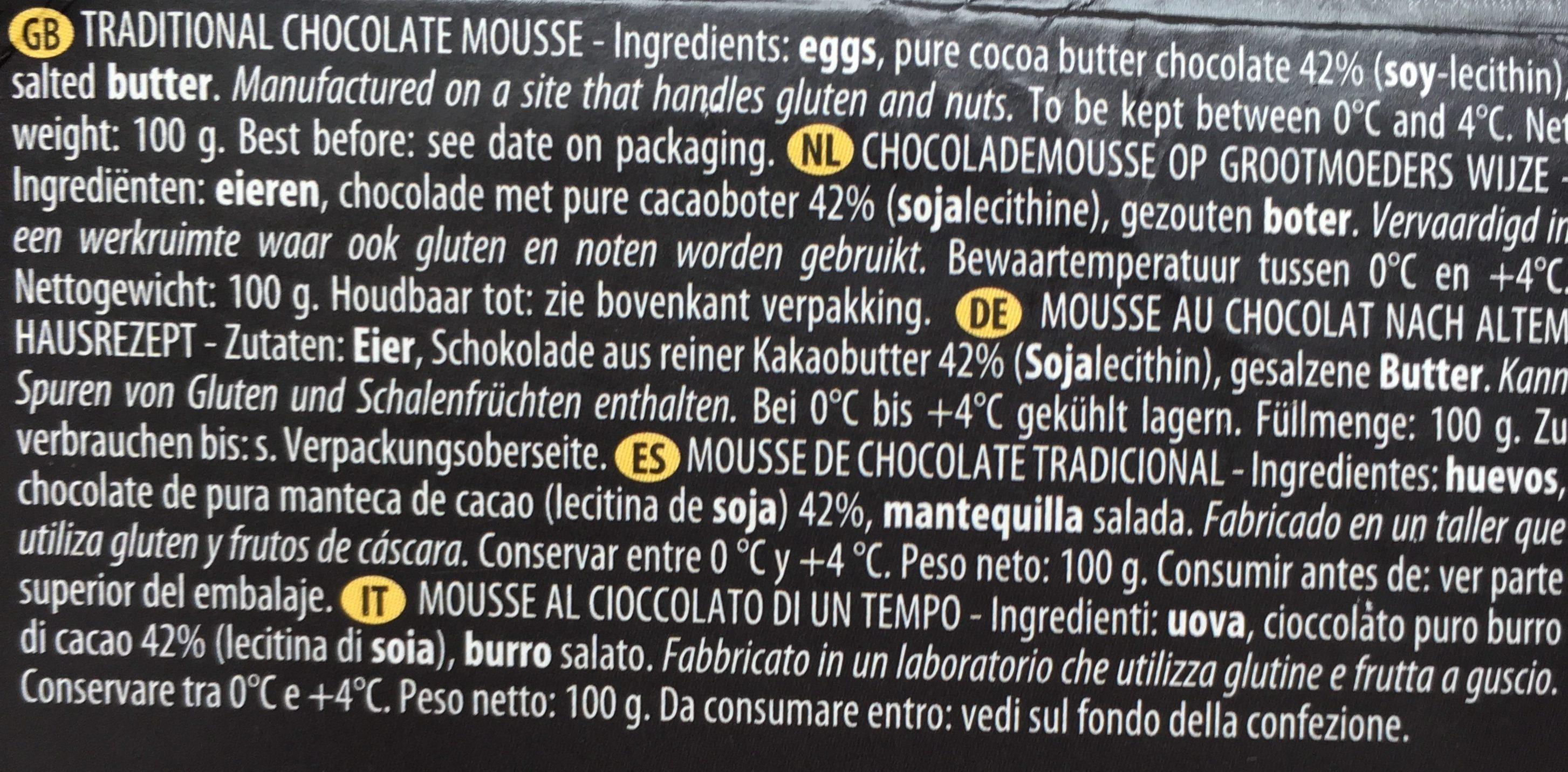 Mousse au chocolat - Ingrediënten