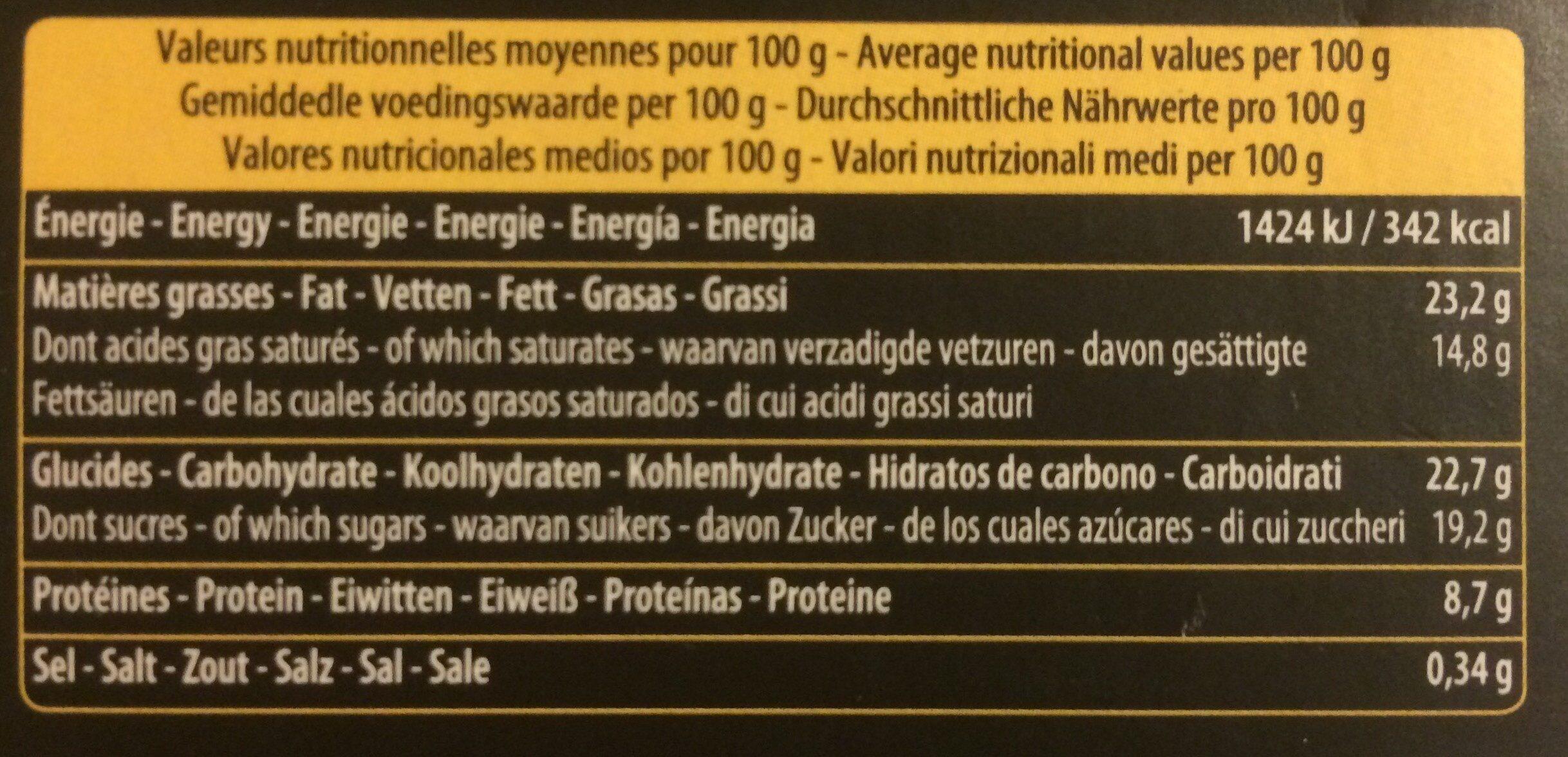 Mousse au chocolat à l'ancienne - Valori nutrizionali - fr