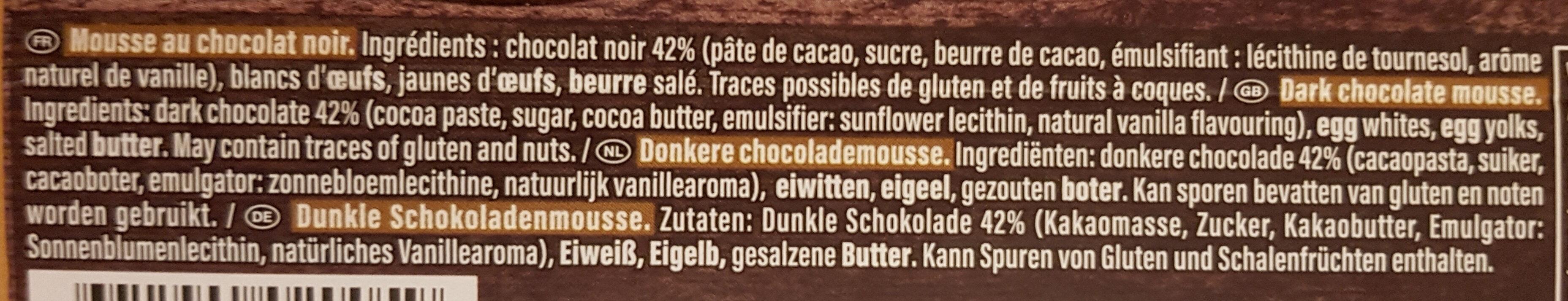 Mousse au Chocolat à l'Ancienne - Ingrédients - fr