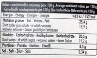 2 Mousses Chocolat à l'ancienne - Información nutricional