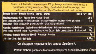 Mousse au Chocolat à l'Ancienne - Informations nutritionnelles - fr