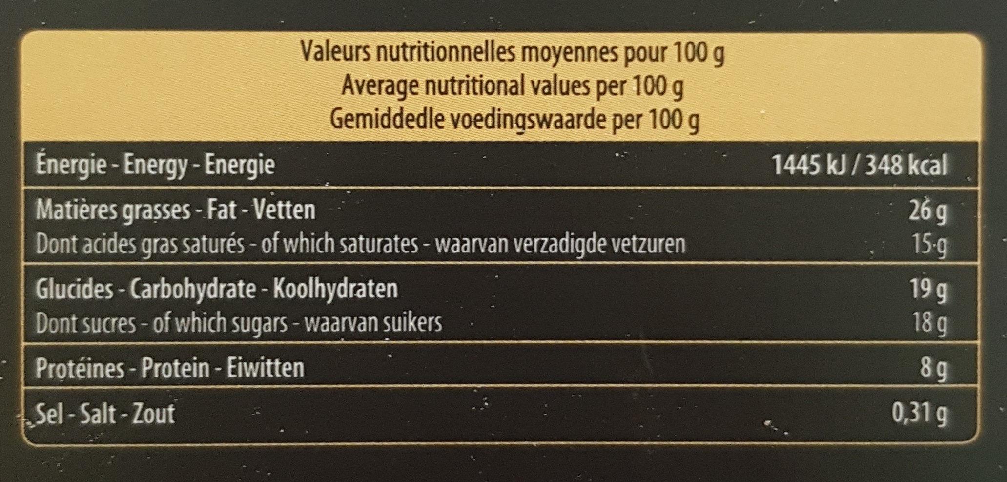 Mousse Au Chocolat Noir Bio - Nutrition facts - fr