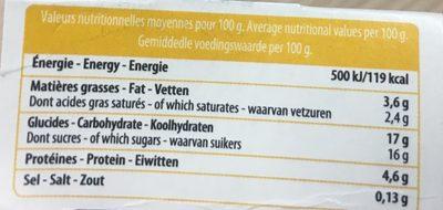 Yaourt vanille bio - Voedigswaarden