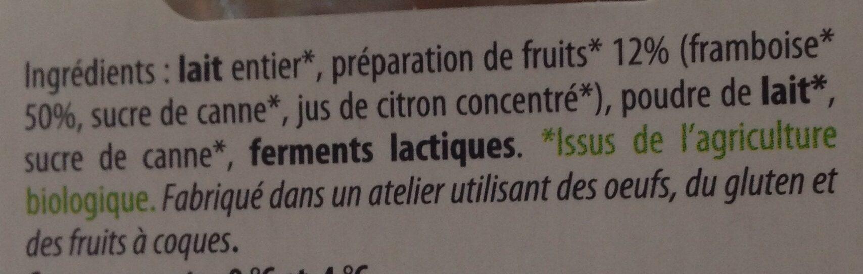 Yaourt Framboise - Ingrediënten