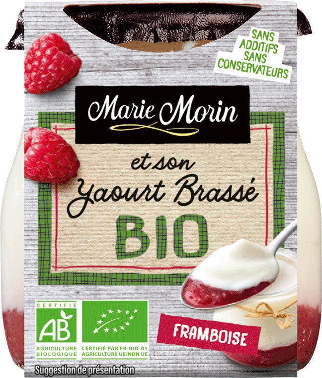 Yaourts brassés bio framboise - Product - fr