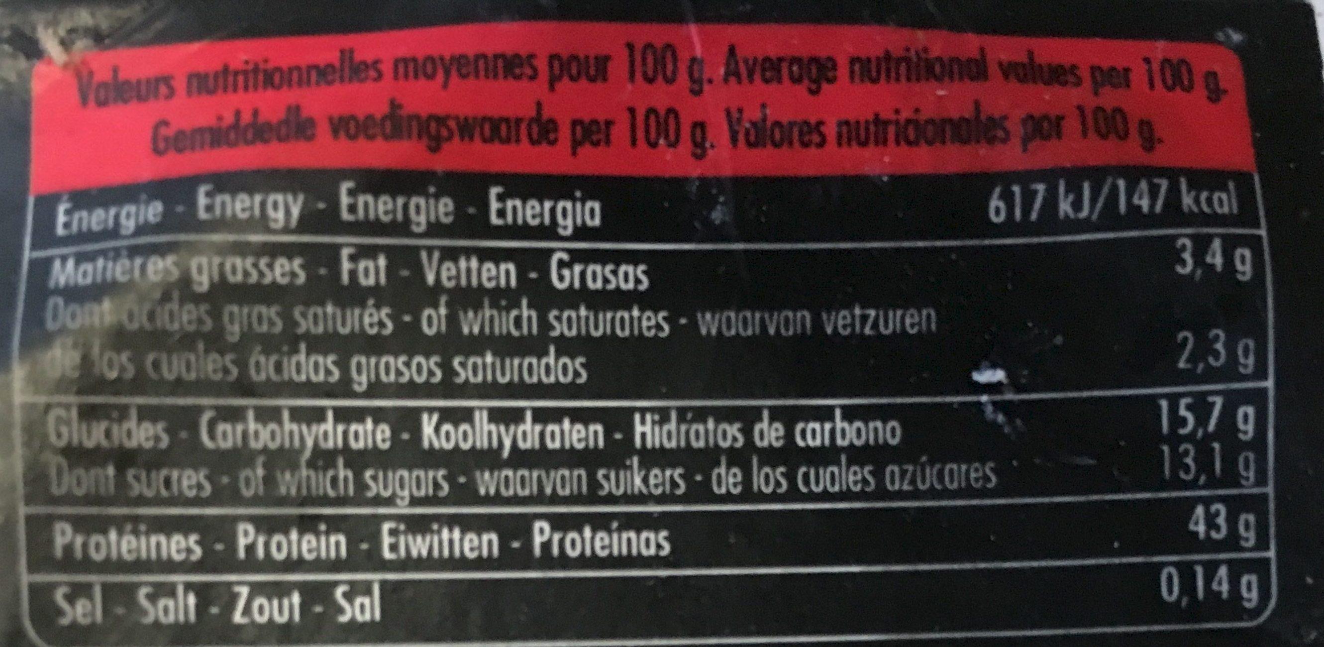Yaourts brassés bio framboise - Nutrition facts - fr