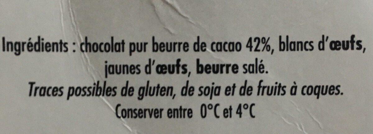 Mousse Chocolat à l'Ancienne - Ingrédients - fr