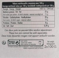 Mousse Chocolat à l'Ancienne - Informations nutritionnelles - fr