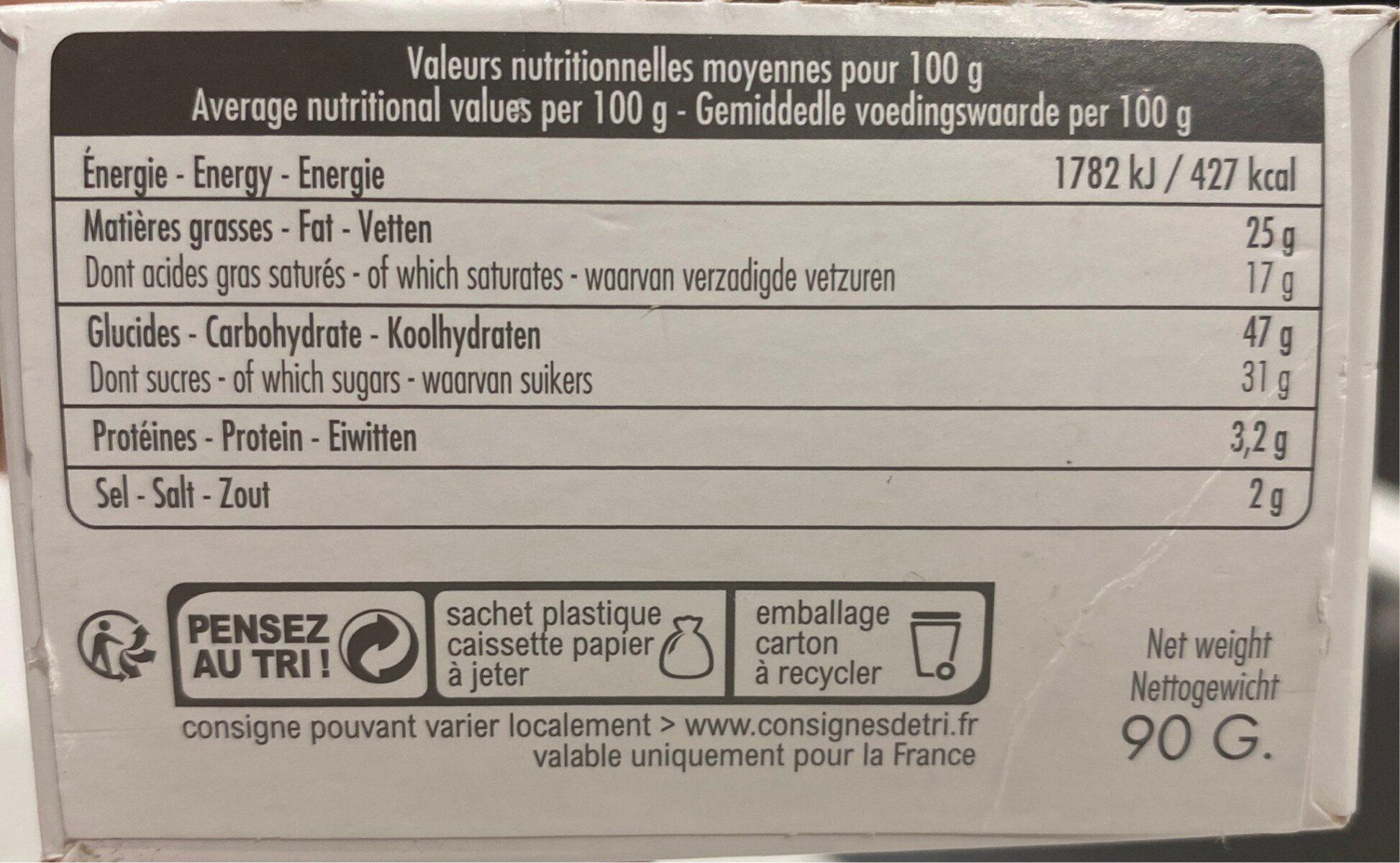 Kouign amann pur beurre - Informations nutritionnelles - fr