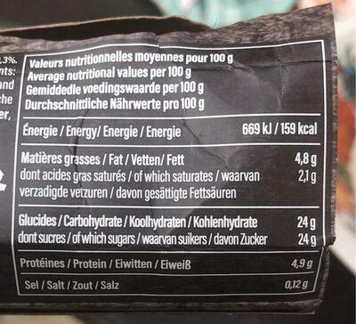 Ile flottante a la vanille - Informations nutritionnelles - fr