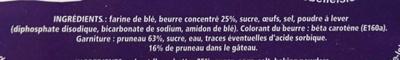 Le Breton de Belle Isle Pruneaux - Inhaltsstoffe - fr
