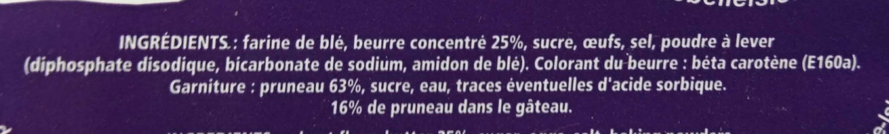 Le Breton de Belle Isle Pruneaux - Ingredients - fr