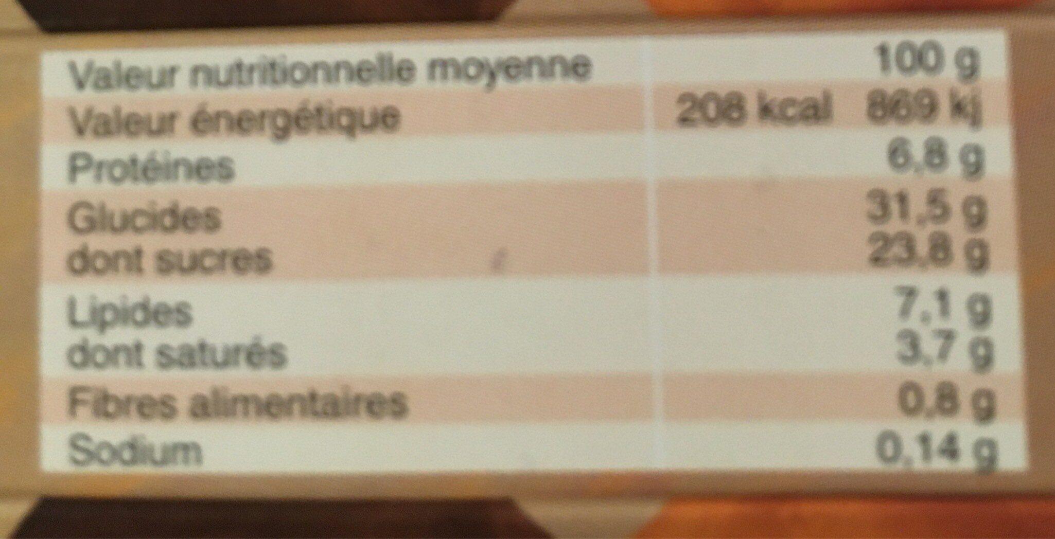 Crème caramel beurre salé - Voedingswaarden - fr