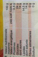 Les glaces de kerheu - Voedingswaarden - fr
