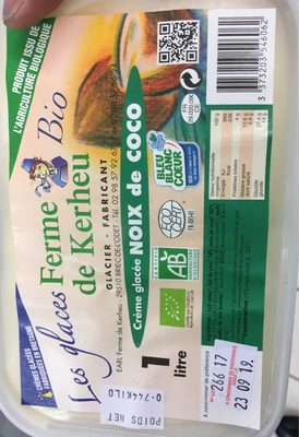 Creme glacee noix de coco - 1