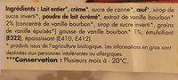 Glace vanille - Ingrediënten - fr