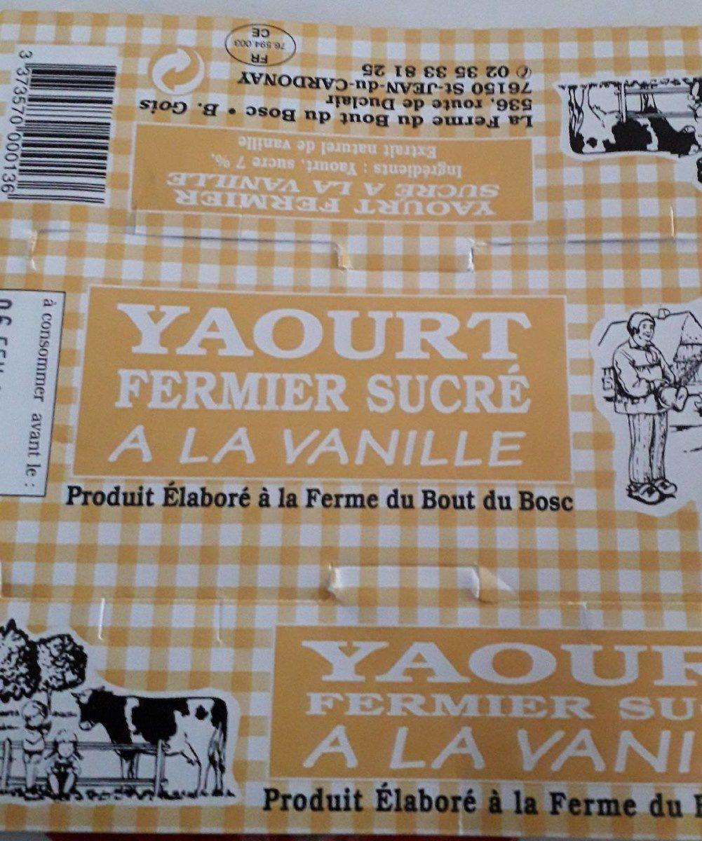 Yaourt fermier sucré vanille - Product - fr