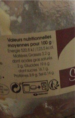 Semoule de riz sur fond de caramel - Informations nutritionnelles - fr