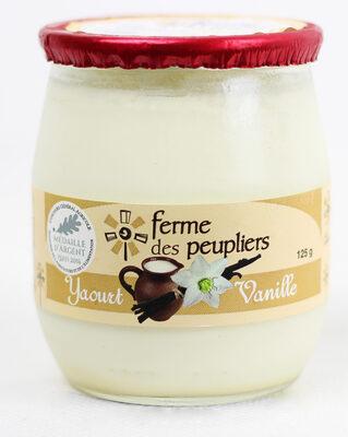 La ferme des peupliers Yaourt Vanille - Produit - fr
