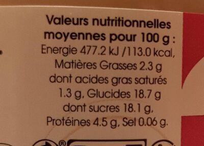 Delice caramel - Informations nutritionnelles - fr