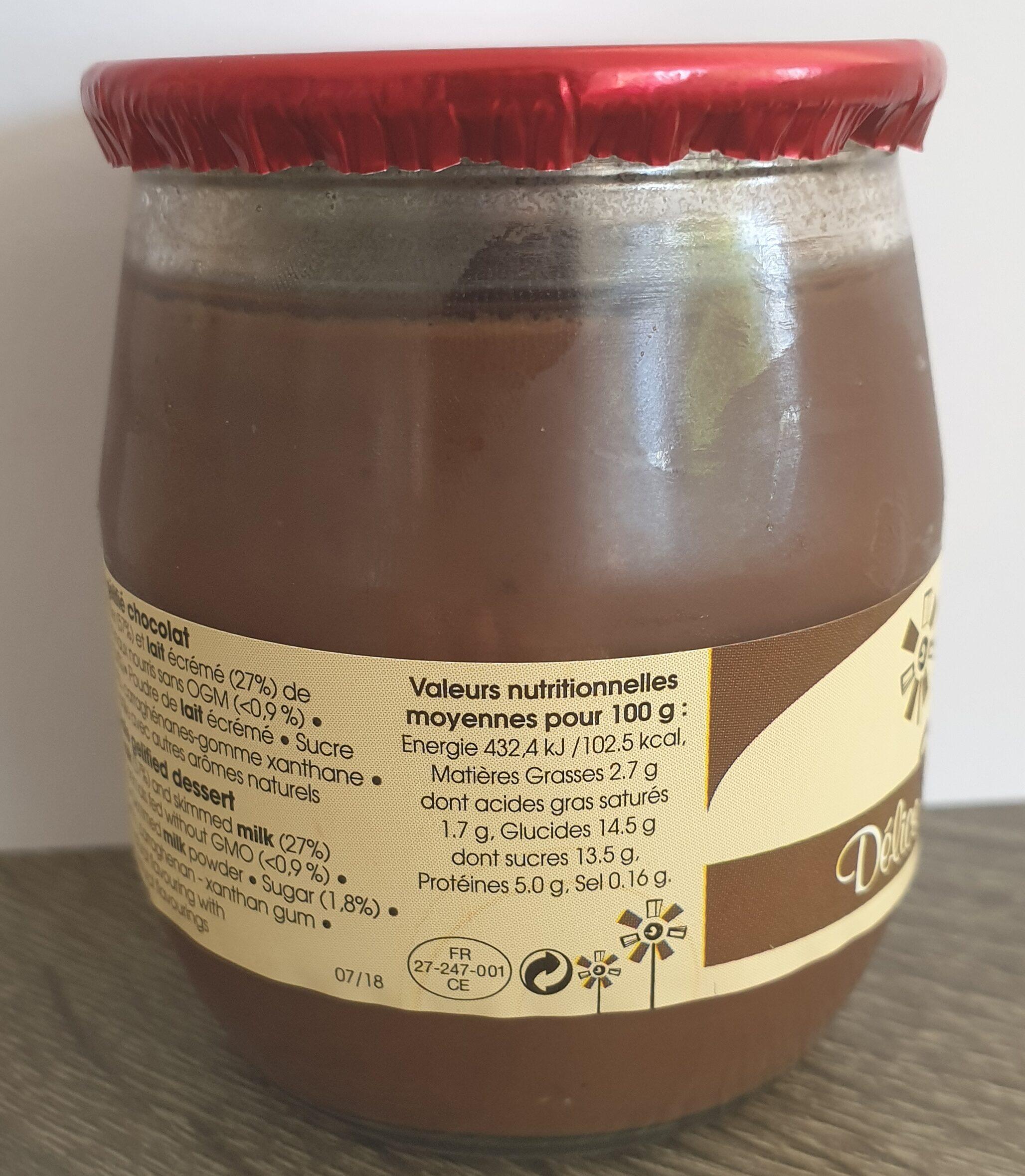 Délice Chocolat - Informations nutritionnelles - fr