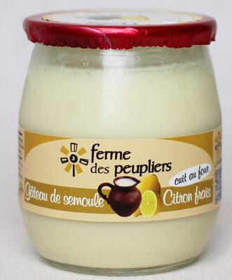 Gâteau de semoule citron frais - Produit - fr