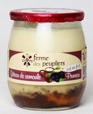 Gâteau de semoule au pruneau - Produit - fr