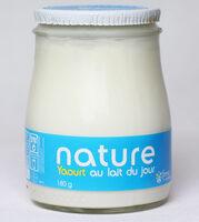 Yaourt brassé nature au lait du jour - Produit - fr