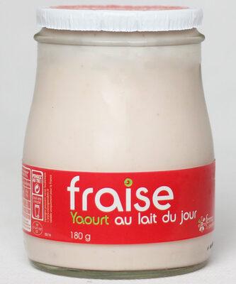 Yaourt fraise au lait du jour - Produit - fr