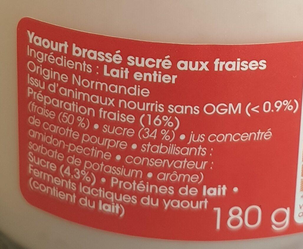 Yaourt fraise au lait du jour - Ingrédients - fr