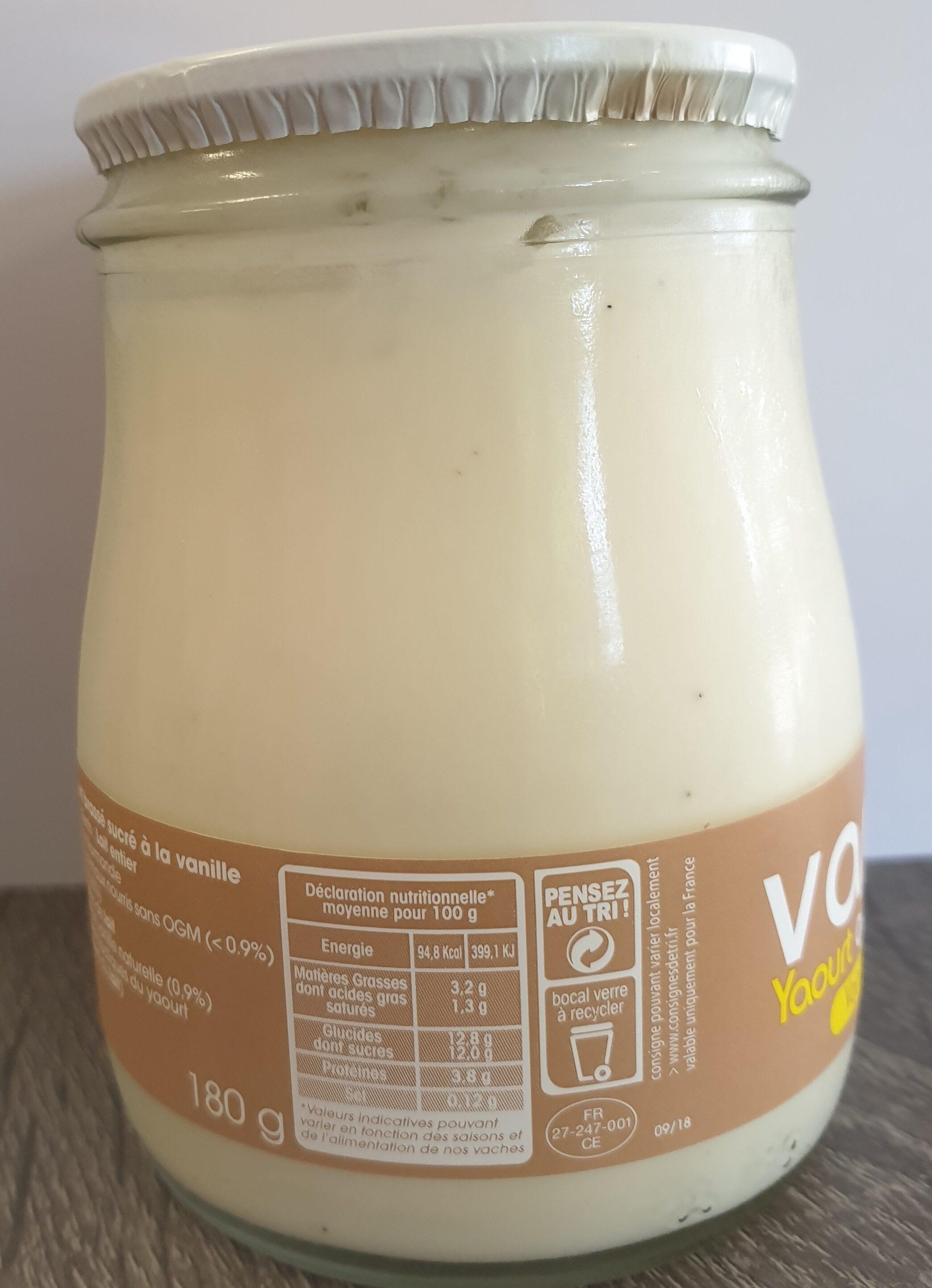 Yaourt brassé Vanille - Informations nutritionnelles - fr